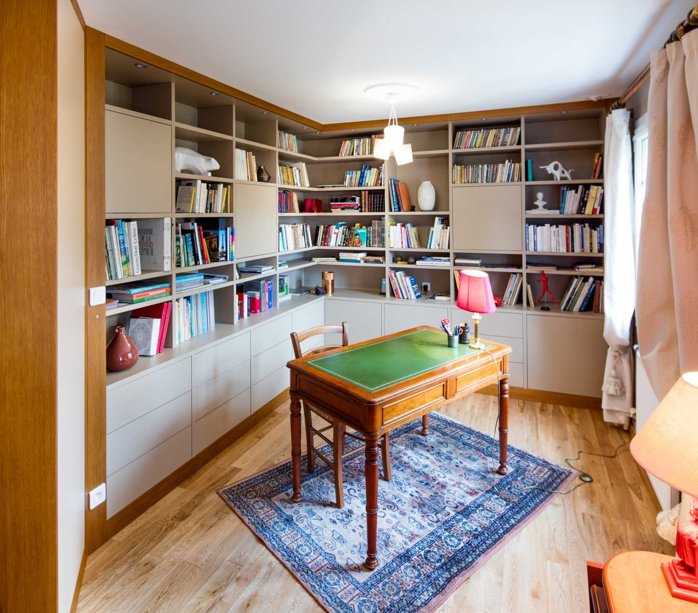biblioth que bureau couleurs douces compagnie des ateliers. Black Bedroom Furniture Sets. Home Design Ideas