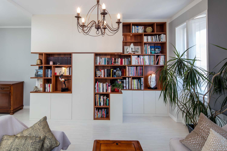 biblioth que destructur e blanc et bois compagnie des. Black Bedroom Furniture Sets. Home Design Ideas