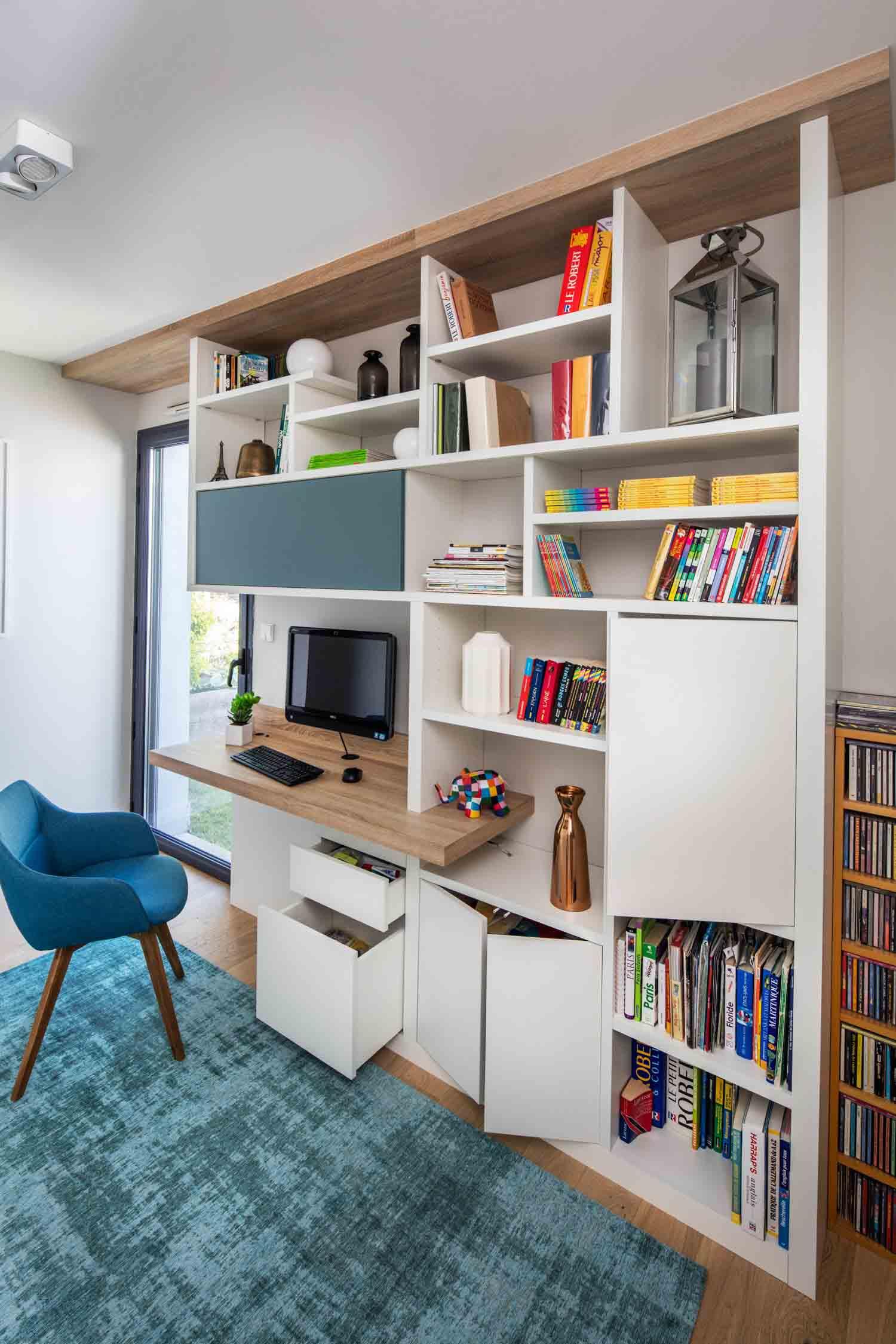 Etagere Sur Mesure Paris bureau et bibliothèque fonctionnels -la compagnie des ateliers