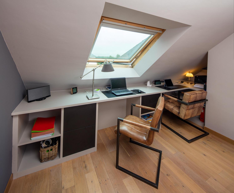 Idées de bureaux sous les combles maison travaux
