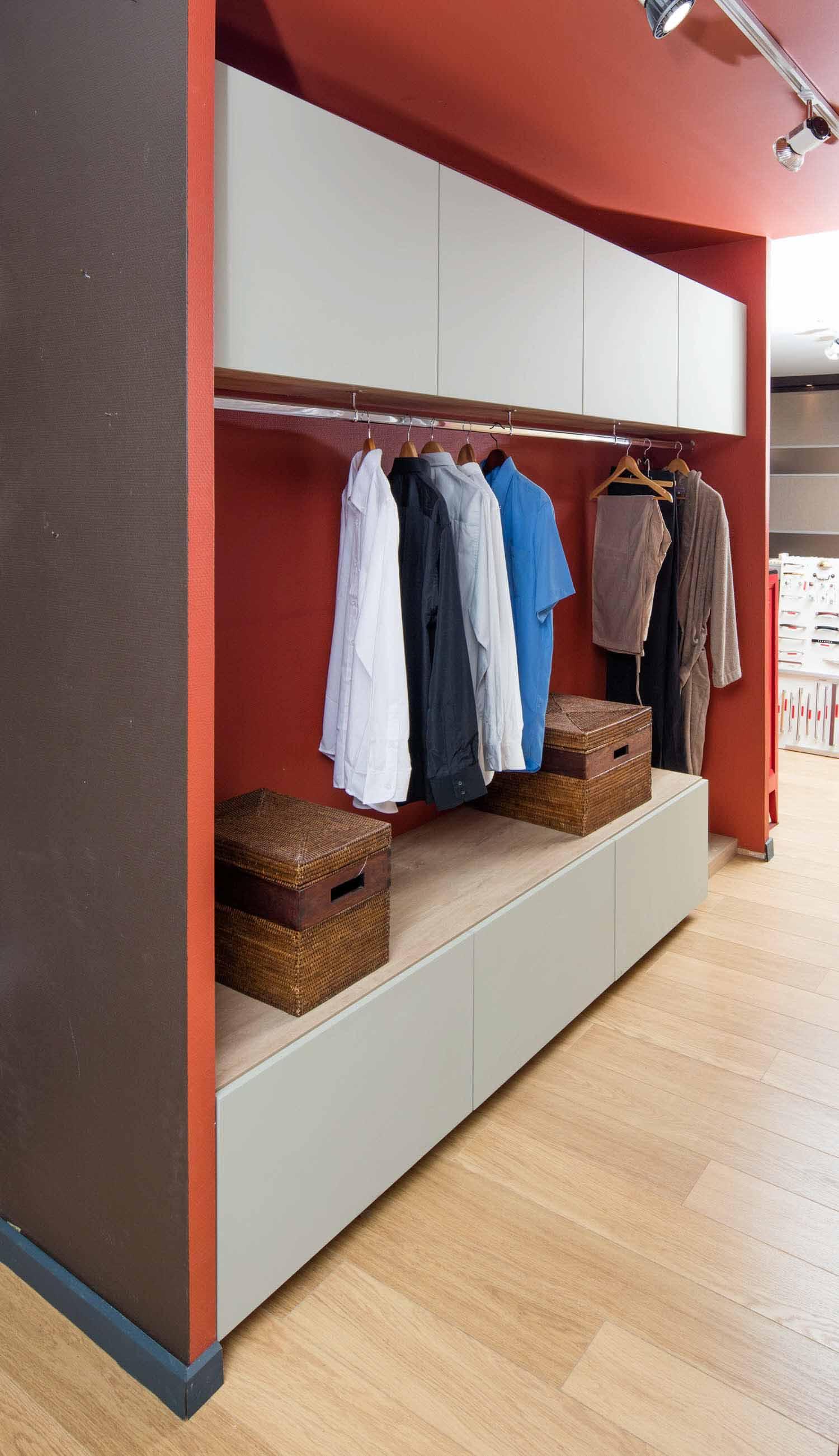 Grand Dressing Sur Mesure dressing astucieux et discret- compagnie des ateliers