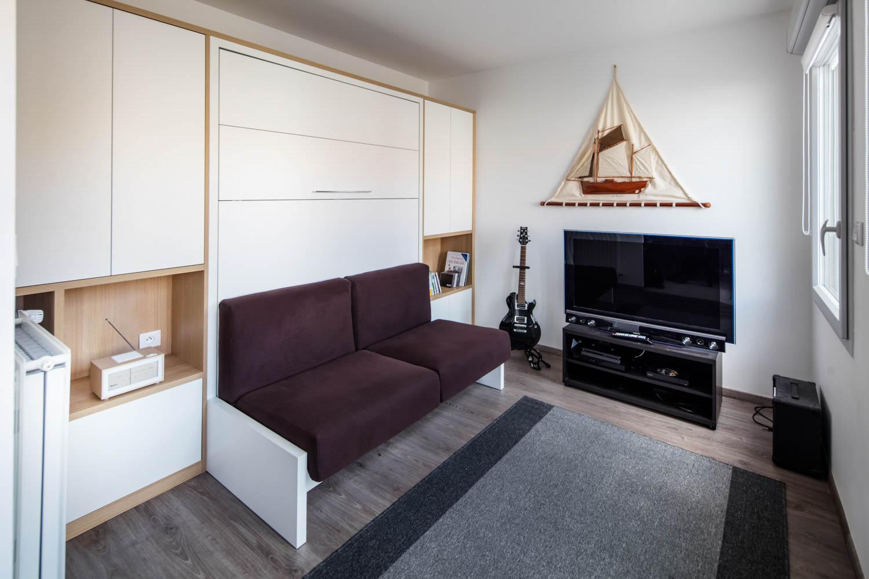 Tv Escamotable Lit lit rabattable design et sur-mesure - la compagnie des ateliers