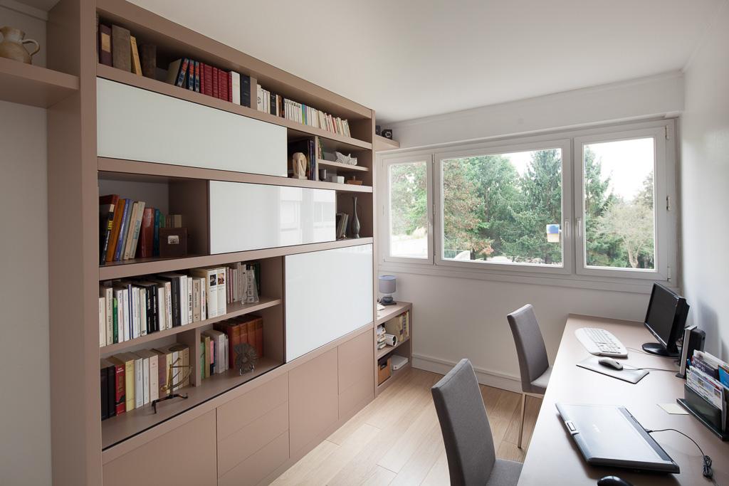 biblioth que portes coulissantes sur mesure compagnie des ateliers. Black Bedroom Furniture Sets. Home Design Ideas