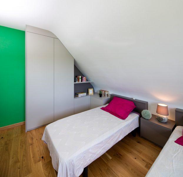 Chambre avec placards sur-mesure -version fermée
