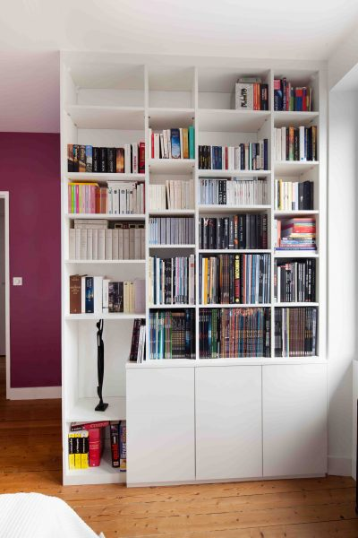 Bibliothèque haute sur-mesure