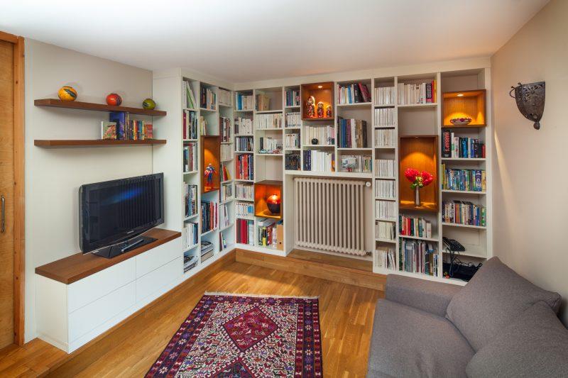 Bibliothèque et meuble TV sur-mesure