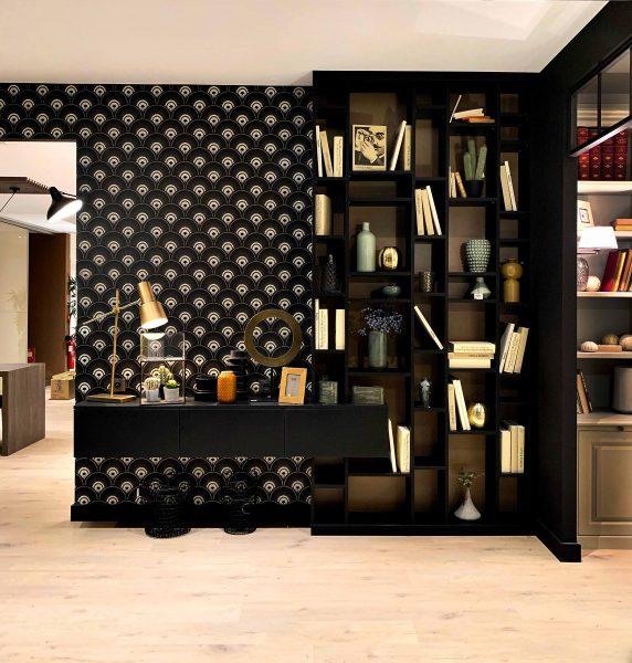 Bibliothèque noire ultra tendance