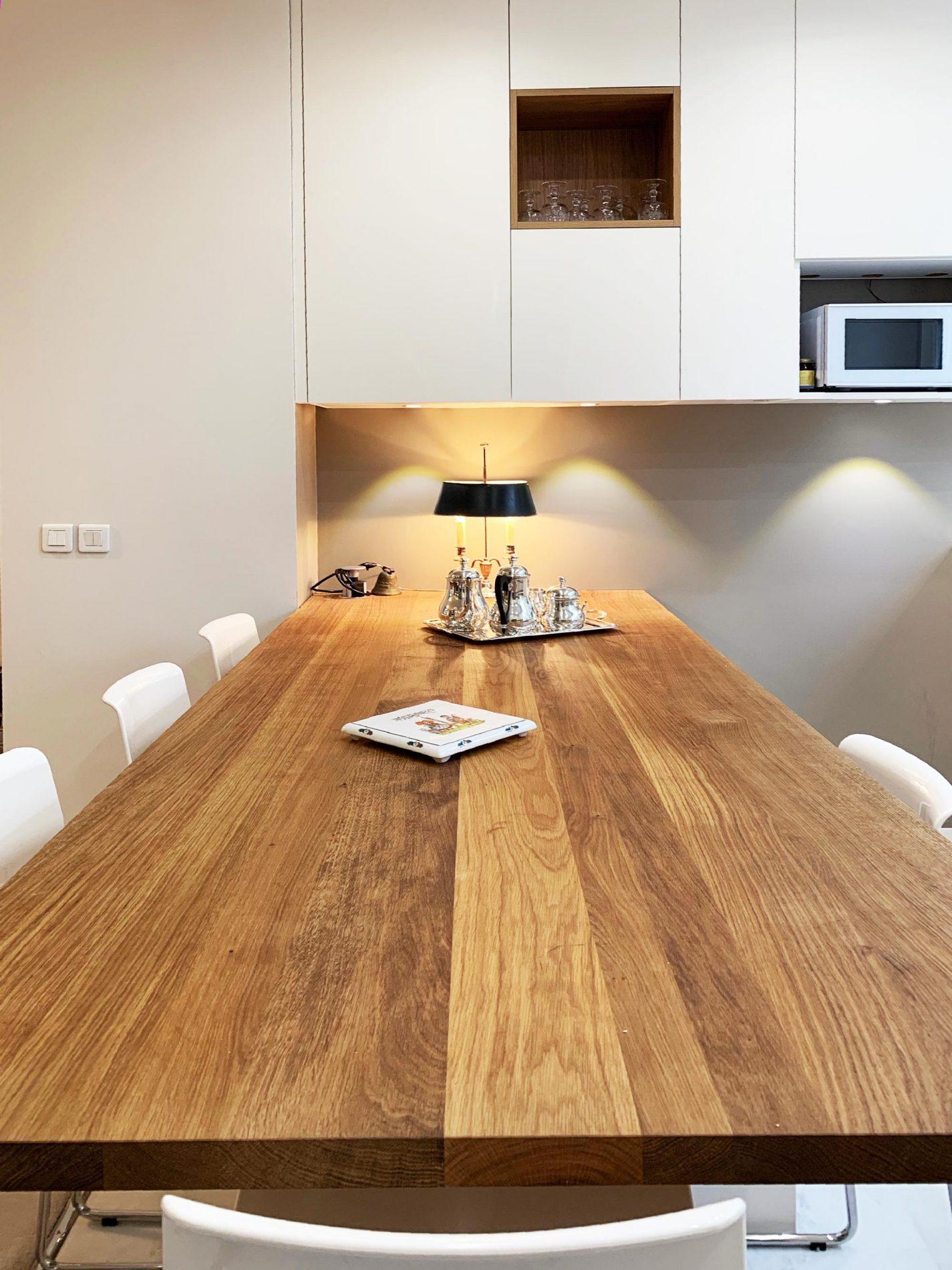 Cuisine en bois clair ultra raffin e compagniedesateliers - Cuisine en bois clair ...