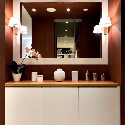 Salle de bain terracotta ultra sophistiquée