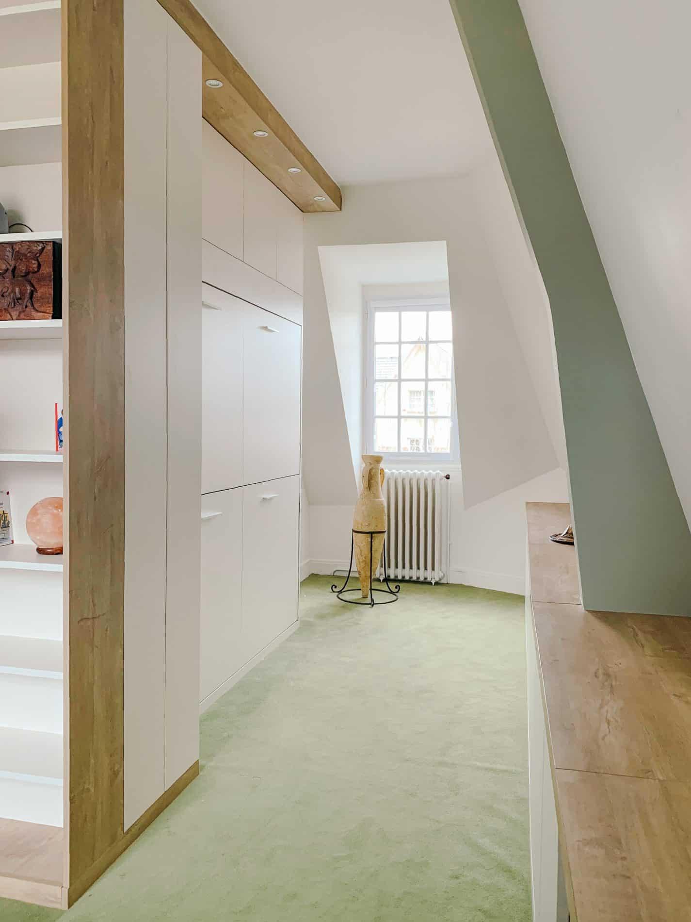 lits superposés rabattable ouvert fermé