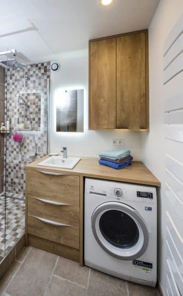 meuble et rangements salle de bain en bois