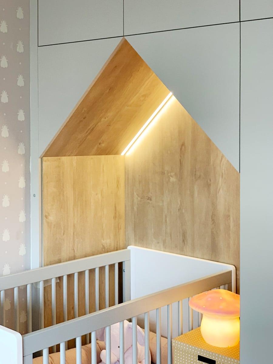placard lit enfant - focus sur la découpe en forme de maison